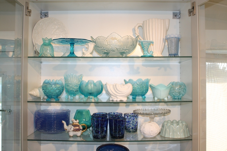 Blue Glass Display