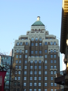 Marine Building Vancouver  (photo Sue Womersley)