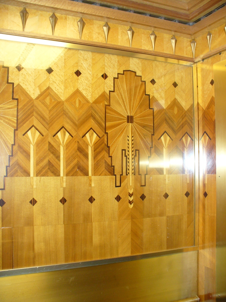 Marine Building Elevator Interior (photo Sue Womersley)