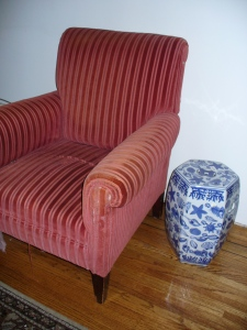 Knowing when to Re-upholster - this chair's future was the dumpster
