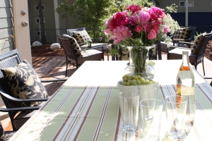Dining Table on the sunny deck