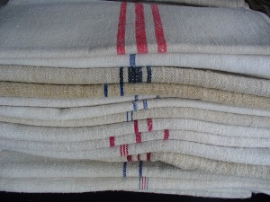 Vintage French Linen Teatowels