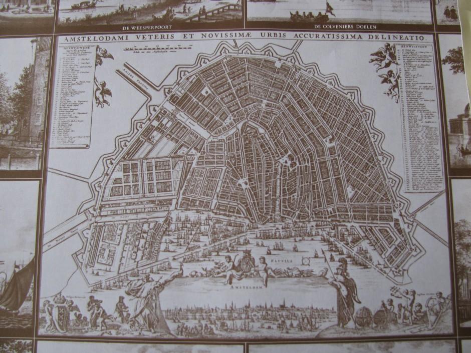 vintage map Amsterdam