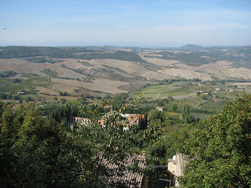 Panoramic views from Montapuliciano