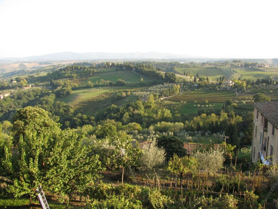 San Giamignano hilltop view