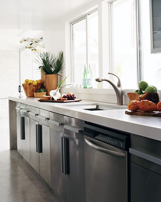 Simple galley kitchen