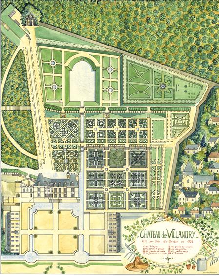 France finest formal garden villandry decorata design musing for Jardin villandry