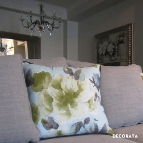 Custom sofa and cushions