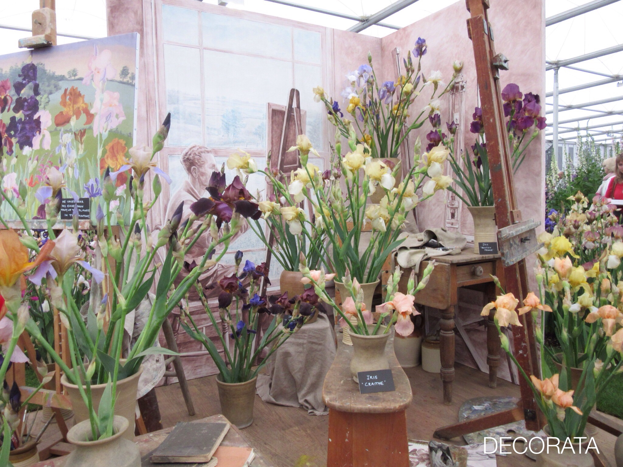 RHS Chelsea Flower Show, Decorata Design, iris, sue womersley