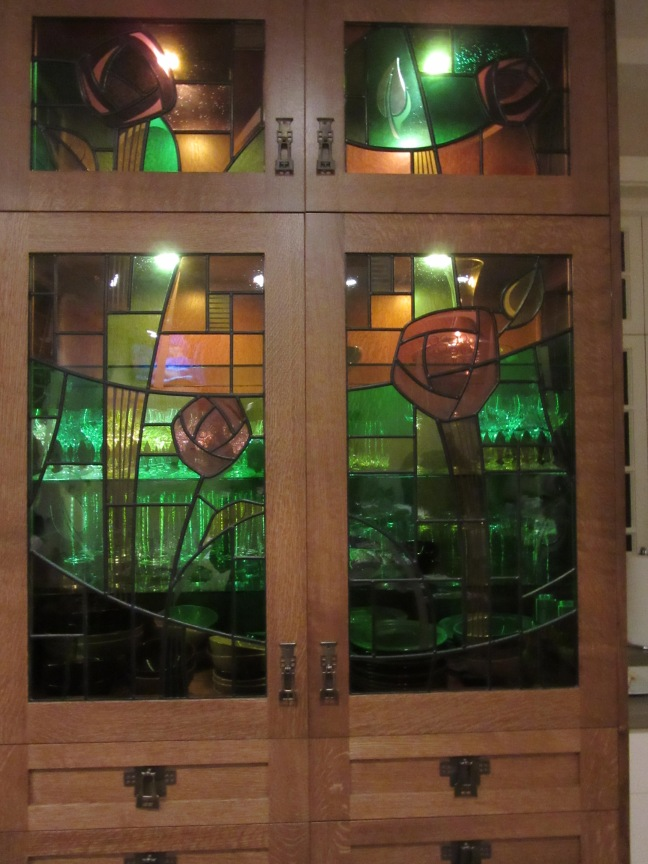 stained glass feature