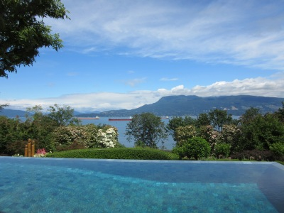 Infinity pool view of vancouver